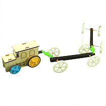 Feichao DIY Assembled Electric Model Toy Car Handmade Educational Toy Set Cans Train For Children Students