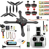 JMT 300mm 2.4G 6CH RC Quadcopter ARF RTF BNF DIY Brushless FPV Drone Combo Radiolink Mini PIX GPS & Camera 700TVL 5.8G Transmitter