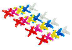 10 Pairs LDARC 40mm 4-Blades Propeller Props CW CCW for Happymodel Mobula 7 Mobula7 KINGKONG Tiny R7 7X INDUCTRIX FPV+ DIY FPV Brush Mini Drone