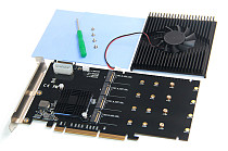 XT-XINTE SSD Hard Drive LM313 PCI-E 8X/16X TO 4P NVME Riser Card Supports 2242 2260 2280 and 22110