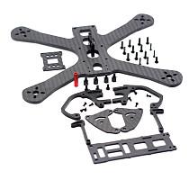 JMT 220 Full Carbon Fiber Integrated FPV Racing Frame Kit 4MM Arm Rack For RC Drone Quadcopter