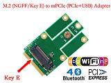 XT-XINTE NGFF M.2 to MiniPCIE Key E miniPCI-E mPCIE Slot PCIe + USB Adapter Wifi + Bluetooth Mini Adapter Card for Desktop Laptop