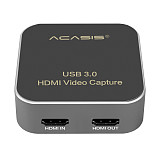 AC-HDCP USB 3.0 HDMI to Type-C 1080P HD Video Capture Card Box Drive-Free for TV PC PS4 Game Live Stream for Windows Linux Os X