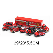FEICHAO Alloy Pull Back Car Toys 1:64 Car and Truck Friction Powered Diecast Car Toy Play Set for Kids Birthday Party Supplies
