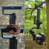 BGNING New Aluminum Alloy Handle Grips Extension Rod Holder for DJI Ronin S for Zhiyun Crane 2 Stabilizer Gimbal for Action Camera