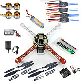 RC 4 Axis Multi QuadCopter UFO ARF/Kit No TX&RX:KK V2.3 Circuit board+1000KV Motor+30A ESC+Lipo+F450 Flame wheel