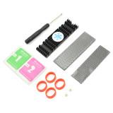 XT-XINTE Aluminium Alloy PCIe NVMe M.2 2280 SSD Heatsinks Radiator Laptop PC Memory Cooling Fin Heat Dissipation Radiator 22x76x10mm
