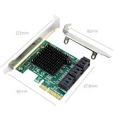 XT-XINTE PCI-E PCI Express to 6 Ports SATA3.0 SATA 3 III 6Gbps Controller Expansion Card Adapter w Low Profile Bracket for SSD HDD IPFS
