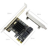 XT-XINTE 4 Ports 6Gbps PCI-E to SATA3.0 Expansion Card PCI Express 1X to SATA III Convert Adapter with Heat Sink for SSD IPFS Mining