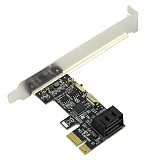 XT-XINTE PCI-E to SATA3.0 2 Port Mini Size Expansion Card PCIE to SATA III Convert Adapter Interface for SSD Boot System Riser Controller