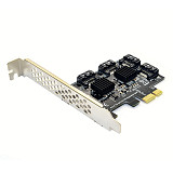 XT-XINTE Desktop PCI-E to Sata3.0 Expansion Card 4-port Adapter Card Compatible with SATA6G