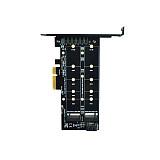 XT-XINTE M.2 NVMe SSD NGFF to PCIE X4 Adapter Card Key M+B Dual Interface For 2230 22422260 2280 20110