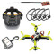 Mini Quadcopter Brushless Racing Drone Flyegg Upgraded RC DIY Kit with FPVEGG PRO PNP 138mm Frame Frsky Flysky RX TX FPV Goggles