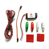 ZMR Simulation Navigation Lamp Lights 2S-3S Voltage Ducted LED Light for RC Fixed wing Aircraft Drone