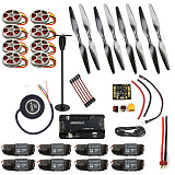 Necessity kits for 8-Aix RC Drone Heli 350KV Motor+40A ESC+1555 Props