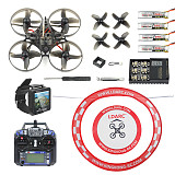 Happymodel Mobula7 V2 RTF 75mm Crazybee F3 Pro OSD 2S Whoop FPV Racing Drone Mobula 7 Quadcopter with FPV Watch/ Goggles Arch Apron FS I6 Remote Control