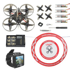 Happymodel Mobula7 V2 75mm Crazybee F3 Pro OSD 2S Whoop FPV Racing Drone Mobula 7 BNF Quadcopter with FPV Watch Arch Apron
