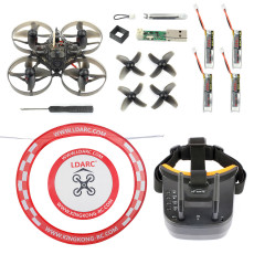 Happymodel Mobula7 V2 75mm Crazybee F3 Pro OSD 2S Whoop FPV Racing Drone Mobula 7 BNF with FPV Goggles Arch Apron