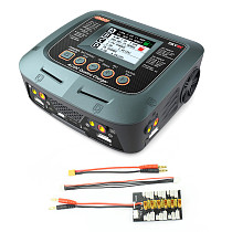 SKYRC Q200 1 to 4 Intelligent Charger/Discharger AC/DC Drone Balance Charger with XT30 1S-3S Plug Parallel Charging Plate 4.0mm Plug for Lipo/LiHV/Lithium-iron/Ion/NiMH/NiCD/Lead-acid battery