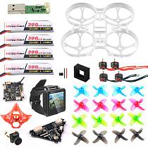 FPV Version Full Set DIY Mobula 7 V3 FPV Drone Accessories Combo Crazybee F4 PRO FC FPV Watch V3 Frame SE0802 Motor Turbo Eos2 Camera VTX for Mobula7 75mm Bwhoop75 Brushless Whoop Eachine TRASHCAN TC75
