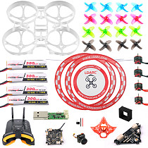 FPV Goggles Version Full Set DIY Mobula 7 V3 FPV Drone Accessories Combo Crazybee F4 PRO FC V3 Frame SE0802 Motor Turbo Eos2 Camera VTX Arch Apron for Mobula7 75mm Bwhoop75 Brushless Whoop Eachine TRASHCAN TC75