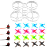 DIY Mobula 7 V3 FPV Drone Accessories Combo V3 Frame SE0802 Motor 4-Blade Props for Mobula7 75mm Bwhoop75 Brushless Whoop Eachine TRASHCAN TC75