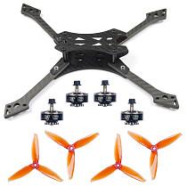 JMT 220MM DIY FPV Racing Drone Accessories Combo Falcon-220 Frame Kit 5152S CW CCW Props 2306-2400KV 3-4S Motors