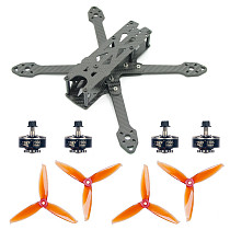 JMT 220MM DIY FPV Racing Drone Accessories Combo FX220mm Frame Kit 5152S CW CCW Props 2306-2400KV 3-4S Motors