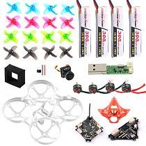 Basic Version Full Set DIY Mobula 7 V3 FPV Drone Accessories Combo Crazybee F4 PRO FC V3 Frame SE0802 Motor Turbo Eos2 Camera VTX for Mobula7 75mm Bwhoop75 Brushless Whoop Eachine TRASHCAN TC75