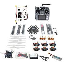 Full Set Hexacopter 6-axle Aircraft Kit HMF S550 Frame PXI PX4 Flight Control 920KV Motor GPS Gimbal AT10 Transmitter