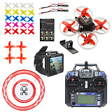 RTF PRO 75mm V2 Crazybee F4 OSD 2S Whoop FPV Watch / Goggles RC Racing Drone with Flysky RX TX 700TVL Camera 25mW VTX with Parking Apron & Air Gate