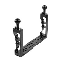 BGNING CNC Aluminum Diving Underwater Waterproof Lighting Arm Bracket System Handle Grip Stabilizer Rig for Sports Camera Housing Diving Case