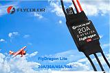 FLYCOLOR Fly Dragon Lite 20A 30A 40A 50A 2-4S Brushless ESC For Fixed-wing RC Aircraft Model
