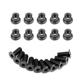 10PCS M4 Eccentric Nut NSR Fish Bone Screw Nut For KEYMOD Rail Screws NSR/M-lok