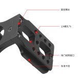 Upgraded Version Quick Release L Plate Bracket Vertical Shooting L-132C for Manfrotto Head Zhiyun Gimbal for Canon Nikon Sony Video Cameras