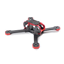 TransTEC Fatty 218 3K 4mm Carbon Fiber Racing Quadcopter Frame 218mm Rack for FPV Racer Racing Drone 7075 Metal parts