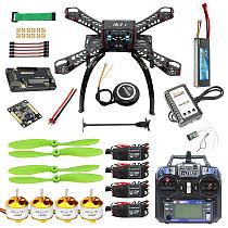 Full Kit DIY GPS Drone RC Fiberglass Frame Multicopter FPV APM2.8 1400KV Motor 30A ESC flysky 2.4GFS-i6 Transmitter