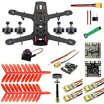 JMT 250 DIY FPV Quadcopter Camera Drone Kit 250MM Carbon Fiber Frame SP Racing F3 FC Flycolor Raptor BLS Pro-30A ESC 700TVL Camera HGLRC GTX226 V2 VTX