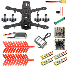 JMT 250 DIY FPV Drone Quadcopter Accessories 250MM Carbon Fiber Frame SP Racing F3 FC Flycolor Raptor BLS Pro-30A ESC 2400KV Motor 11.1V 1500MAH 40C Battery