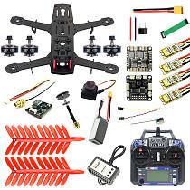 JMT 250 Full Set DIY FPV Quadcopter Camera Drone 250MM Carbon Fiber Frame SP Racing F3 FC Flycolor Raptor BLS Pro-30A ESC 700TVL Camera HGLRC GTX226 V2 VTX 11.1V 1500MAH 40C Battery FS I6 TX