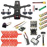 JMT 250 DIY FPV Quadcopter Camera Drone Kit 250MM Carbon Fiber Frame SP Racing F3 FC Flycolor Raptor BLS Pro-30A ESC 700TVL Camera HGLRC GTX226 V2 VTX 11.1V 1500MAH 40C Battery