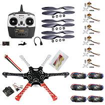 F550 Drone FlameWheel Kit With KK 2.3 HY ESC Motor Carbon Fiber Propellers + RadioLink 6CH TX RX