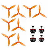 4PCS IFlight Xing 2207 1700KV 1800KV 3-6S Motor with GEMFAN 5149-3 5 Inch Props FPV Racing Motor Super Light Engine for RC Racing Drone DIY Quadcopter