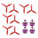 4pcs IFlight Xing X2306 2450KV 2-4S Motor with GEMFAN 5149-3 5 Inch Propeller Props FPV Racing Motor Super Light Engine for RC Racing Drone DIY Quadcopter