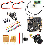 Happymodel Crazybee F4 PRO Flight Controller 1-2S with Frsky XM+ RX Turbo EOS2 Camera VTX XT30 Plug 20AWG Silicone Wire for 2S Brushless Tiny Whoop For Mobula7 Mobula 7 Upgrade Eachine TRASHCAN TC75