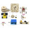 Feichao 9pcs/set Science Educational Toy DIY Clock/Table Lamp/ Car /Bell/Door Assembling Kids Toys for Children Gifts