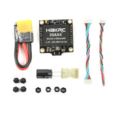 Hakrc 4 In 1 30A / 40A Blheli_S BB2 Dshot 150/300/600 Mini ESC Speed Controller 2-5S for DIY FPV Racing Drone Multcopter Outdoor