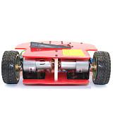 Feichao DIY zhuiz Smart Car Ultrasonic Obstacle Avoidance Trolley 51 Microcontroller Kits Anti-drop Robot Model for Kids Toys