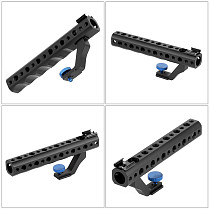 BGNING DSLR Camera Quick Release Top Handle 28mm with Hot Shoe 1/4  3/8  for DSLR Cage Rig Low Angle Shot for Sony A6500 GH5 G85 A7RIII