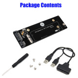 XT-XINTE 18+8 Pin SSD to SATA 2.5inch USB Adapter Card for 2012 Macbook Air /Pro Retina Converter with USB 2.0 Cable